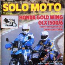 Coches y Motocicletas: SOLO MOTO 30 #62 4/88. MUY BUEN ESTADO. Lote 232911005