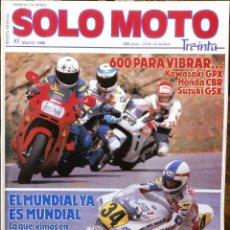 Coches y Motocicletas: SOLO MOTO 30 #63 5/88. EXCELENTE ESTADO. Lote 232911026