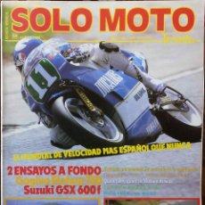 Coches y Motocicletas: SOLO MOTO 30 #64 6/88. EXCELENTE ESTADO. Lote 232911060