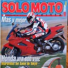 Coches y Motocicletas: SOLO MOTO 30 #226 12/01. EXCELENTE ESTADO. Lote 233337865