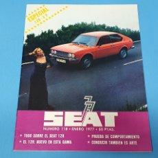 Coches y Motocicletas: REVISTA SEAT - NÚMERO 118 - ENERO 1977. Lote 234660495