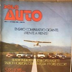 Coches y Motocicletas: REVISTA SOLO AUTO NÚMERO 1. OCTUBRE 1982. Lote 236174495