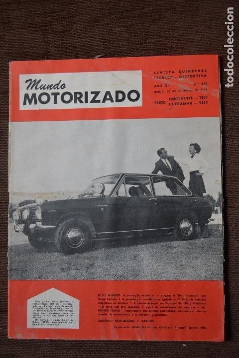 1968 Nº 263 REVISTA MUNDO MOTORIZADO - FIAT 850 SPECIAL - SALON AUTOMOVIL DE LONDRES (Coches y Motocicletas - Revistas de Motos y Motocicletas)