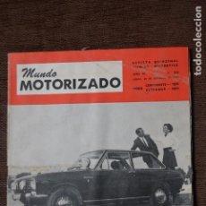 Coches y Motocicletas: 1968 Nº 263 REVISTA MUNDO MOTORIZADO - FIAT 850 SPECIAL - SALON AUTOMOVIL DE LONDRES. Lote 236391255