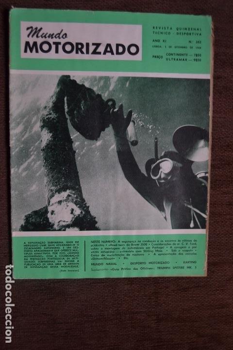 1968 Nº 262 REVISTA MUNDO MOTORIZADO - ROAD TEST ROVER 3500 (Coches y Motocicletas - Revistas de Motos y Motocicletas)