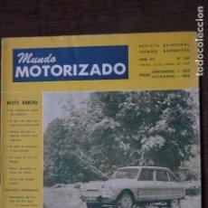 Coches y Motocicletas: 1971 Nº 336 REVISTA MUNDO MOTORIZADO - FIAT 128 RALLYE - RALI TAP. Lote 236393250