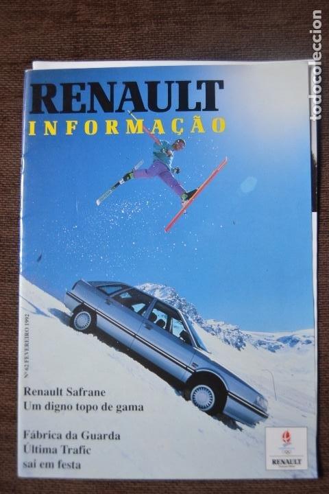 1992 REVISTA RENAULT INFORMACCIÓN - RENAULT SAFRANE - RENAULT TRAFIC (Coches y Motocicletas - Revistas de Motos y Motocicletas)