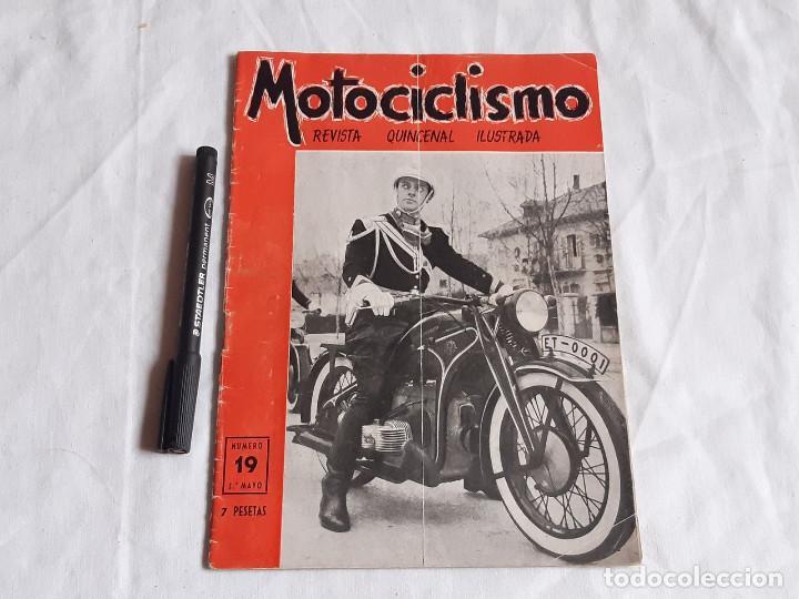 REVISTA MOTOCICLISMO. Nº 19. MAYO 1952. ZUNDAPP. UNIFORME ESCOLTA DE FRANCO. (Coches y Motocicletas - Revistas de Motos y Motocicletas)