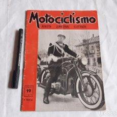 Coches y Motocicletas: REVISTA MOTOCICLISMO. Nº 19. MAYO 1952. ZUNDAPP. UNIFORME ESCOLTA DE FRANCO.. Lote 236433630