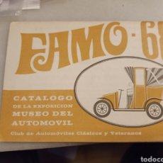 Coches y Motocicletas: CATÁLOGO DE LA EXPOSICIÓN DEL MUSEO DEL AUTOMÓVIL 1968. Lote 237436940