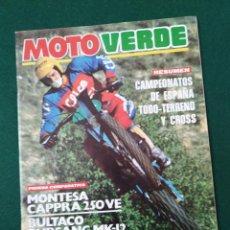 Coches y Motocicletas: REVISTA MOTO VERDE Nº 5 - DIC-1978 CON BULTACO, MONTESA, DERBI, RIEJU, PUCH. Lote 237482045