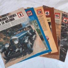 Coches y Motocicletas: FASCÍCULOS LOS MEJORES COCHES DE LA HISTORIA. COMPLETO 1 A 6.. Lote 237546635