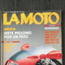 Coches y Motocicletas: LA MOTO N.º 19 1991 HONDA CBR 900 RR, HONDA FOUR 1100, HONDA CB 750, HONDA NR 750, KAWA ZEPHYR. Lote 244019595