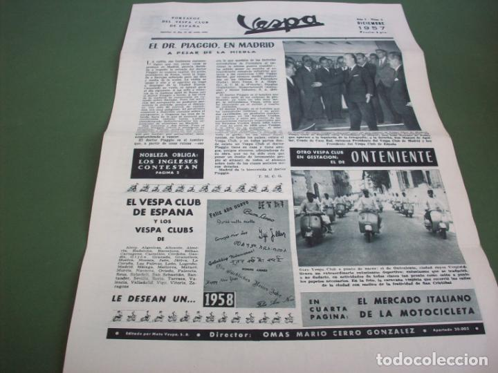 PORTAVOZ DEL VESPA CLUB DE ESPAÑA - AÑO I Nº 6 DICIEMBRE 1957 (Coches y Motocicletas - Revistas de Motos y Motocicletas)