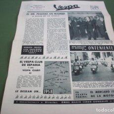 Coches y Motocicletas: PORTAVOZ DEL VESPA CLUB DE ESPAÑA - AÑO I Nº 6 DICIEMBRE 1957. Lote 244598335