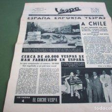 Coches y Motocicletas: PORTAVOZ DEL VESPA CLUB DE ESPAÑA - AÑO I Nº 4 OCTUBRE 1957. Lote 244599535
