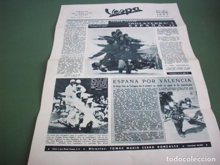 PORTAVOZ DEL VESPA CLUB DE ESPAÑA - AÑO I Nº 5 NOVIEMBRE 1957 (Coches y Motocicletas - Revistas de Motos y Motocicletas)