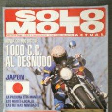 Coches y Motocicletas: REVISTA SOLO MOTO ACTUAL N.º 880 1993 HONDA CB 1000 BIG ONE, HARLEY DAVIDSON 1340 DYNA LOW RIDER. Lote 244832395