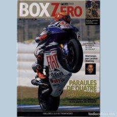 Coches y Motocicletas: BOX ZERO. MAGAZIN CIRCUIT DE CATALUNYA. Lote 244837430