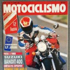 Coches y Motocicletas: MOTOCICLISMO N° 1216 1991. SUZUKI BANDIT 400, HONDA CBR 600 F, YAMAHA FZR 600, BIMOTA BELLARIA. Lote 244871730