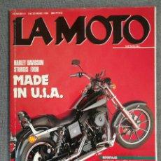 Coches y Motocicletas: REVISTA LA MOTO N.º 8 1990 HARLEY DAVIDSON STURGIS FXDB, SUZUKI RGV 250, MANUEL SOLER JORDI TARRES. Lote 244872360