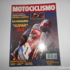 Coches y Motocicletas: REVISTA MOTOCICLISMO NUM 1065 BMW R100GS-CAGIVA ELEFANT-HONDA AFRICA TWIN-BENELLI 125 JARNO. Lote 244881920