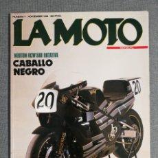 Coches y Motocicletas: LA MOTO. Nº 7 NOVIEMBRE 1990. NORTON RCW 588 ROTATIVA. BMW K 100 RS 16 V. HONDA ST 1100. SUZUKI GSX. Lote 245240785