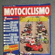 Coches y Motocicletas: REVISTA MOTOCICLISMO Nº 1307 AÑO 1993. COMP: 600: SUZUKI RF, HONDA CBR, YAMAHA FZR Y KAWASAKI ZZR.. Lote 245244215