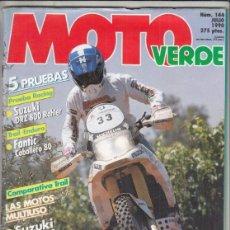 Coches y Motocicletas: REVSITA MOTO VERDE Nº 144 AÑO 1990. PRU: FANTIC CABALLERO 80. RACING: SUZUKI DRZ 800 GASTON RAHIER.. Lote 245479840