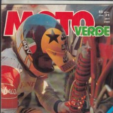 Coches y Motocicletas: REVISTA MOTO VERDE Nº 21 AÑO 1980. PRU: SUZUKI RM 250 Y SUZUKI 440. ANCILLOTTI 250 TT.. Lote 245482980