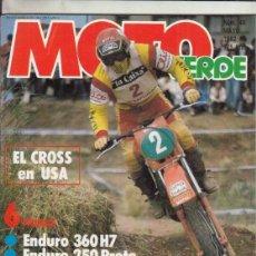 Coches y Motocicletas: REVISTA MOTO VERDE Nº 46 AÑO 1982. COMP: PUCH COBRA M 82 Y DERBI CR 82. MONTESA 360 H7 Y PROTO 250. Lote 245484890
