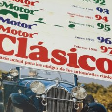 Coches y Motocicletas: REVISTA MOTOR CLÁSICO LOTE DE 6 NÚMEROS. Lote 245783205