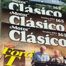 Coches y Motocicletas: REVISTA MOTOR CLÁSICO LOTE DE 4 NÚMEROS. Lote 245784460