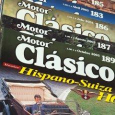 Coches y Motocicletas: REVISTA MOTOR CLÁSICO LOTE DE 5 NÚMEROS. Lote 245784985