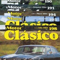 Coches y Motocicletas: REVISTA MOTOR CLÁSICO LOTE DE 5 NÚMEROS. Lote 245785595