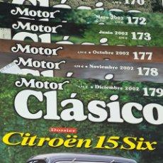 Coches y Motocicletas: REVISTA MOTOR CLÁSICO LOTE DE 6 NÚMEROS. Lote 245786240
