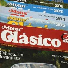 Coches y Motocicletas: REVISTA MOTOR CLÁSICO LOTE DE 6 NÚMEROS. Lote 245786860