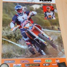 Coches y Motocicletas: POSTER XAVI GALINDO KTM CON AUTÓGRAFO ORIGINAL. Lote 245788970