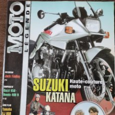 Carros e motociclos: 2002 REVISTA MOTO LEGENDE - SUZUKI KATANA - YAMAHA XJ 900 - GUZZI V 50 - HONDA 400 N. Lote 246319180