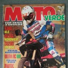 Carros e motociclos: MOTO VERDE N.º 157 1991 GILERA RC 600, FANTIC K-ROO, STEFAN EVERTS, HUSQVARNA CROSS, HONDA CUB. Lote 246454405