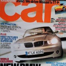 Coches y Motocicletas: 2002 REVISTA CAR - VW PHAETON - HONDA NSX - LAND ROVER DISCOVERY - PEUGEOT 807. Lote 246499675