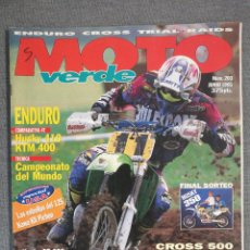 Coches y Motocicletas: MOTO VERDE N.º 203 1995 HUSKY CR 250, APRILIA PEGASO, YAMAHA XT 600, QUADS KAWA, HUSKY 410 KTM 400. Lote 246504520