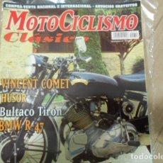 Coches y Motocicletas: REVISTA MOTOCICLISMO CLÁSICO Nº 12 SEPTIEMBRE - VINCENT COMET - HUSOR - BULTACO TIRÓN - BMW R-47 -. Lote 239802875