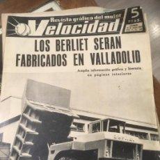 Carros e motociclos: REVISTA GRÁFICA DEL MOTOR VELOCIDAD NUMERO 141 AÑO 1964 LOS BERLIET EN VALLADOLID,PREMIO PEGASO. Lote 246636875