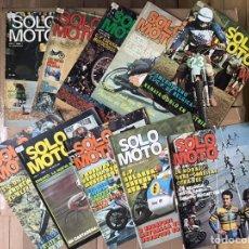 Coches y Motocicletas: COLECCIÓN COMPLETA REVISTA SOLO MOTO NUMERO 1 AL 900 (1975 A 1993). Lote 247658490