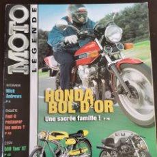 Carros e motociclos: 2002 REVISTA MOTO LÉGENDE - HONDA BOL D`OR - DERBI CYCLO SPORT - HARLEY TEBEC - YAMAHA 500 XT. Lote 249175945