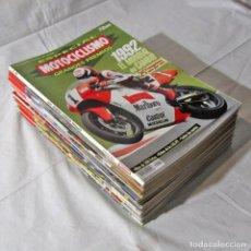 Coches y Motocicletas: 22 REVISTAS MOTOCICLISMO + NÚMERO ESPECIAL 1992, VER NÚMEROS EN FOTOS ADICIONALES. Lote 249236580