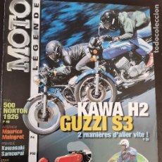 Carros e motociclos: 2000 REVISTA MOTO LEGENDE - 500 NORTON 1926 KAWA H2 - GUZZI S3 - HONDA 125CC 5 CILINDROS - VESPA. Lote 249508570