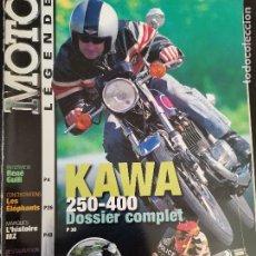 Carros e motociclos: 2000 REVISTA MOTO LEGENDE - KAWA 250-400 - TRIUMPH T100 - GUZZI CALIF - HISTORIA MZ. Lote 249509450