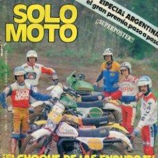 Coches y Motocicletas: SOLO MOTO N 281 ABRIL DE 1981 - GRAN PREMIO DE ARGENTINA - ENDURO 75 - ANDORRA PARAISO - SUPERPOSTER. Lote 251052625